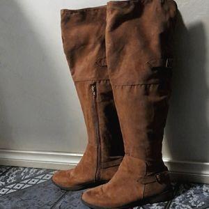 Novo Knee High Boots Brown Women Size 8